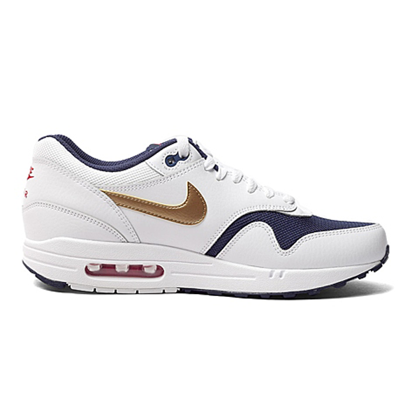 new arrival c1451 2ea3c Size 12   13 Nike Men Air Max 1 Essential 537383 127 White Blue Red Gold