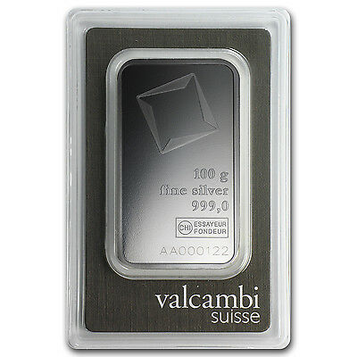 100 gram Valcambi Silver Bar - In Assay - SKU #81996