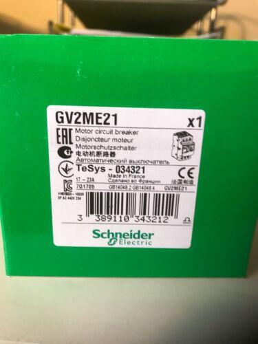 Telemecanique Gv2m21 Square D GV2ME21 GV2-ME21* NEW IN BOX* Ships Same Day