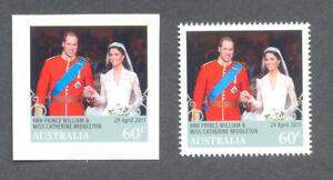 Australie-Mariage Royal 2011-Neuf sans charnière -3592 & N 3593 Paire-royauté-gommée & Self-ad-l Wedding 2011-mnh -3592 &n 3593 pair - Royalty-gummed & self-adafficher le titre d`origine hG4P92t9-07