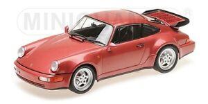 Porsche 911 Turbo 964 rouge Metllic 1990 Minichamps 1:18 155069102