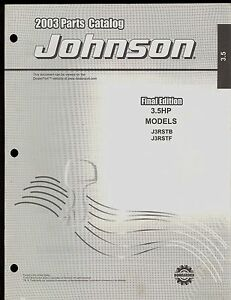 Details about 2003 JOHNSON OUTBOARD PARTS MANUAL 3 5 HP