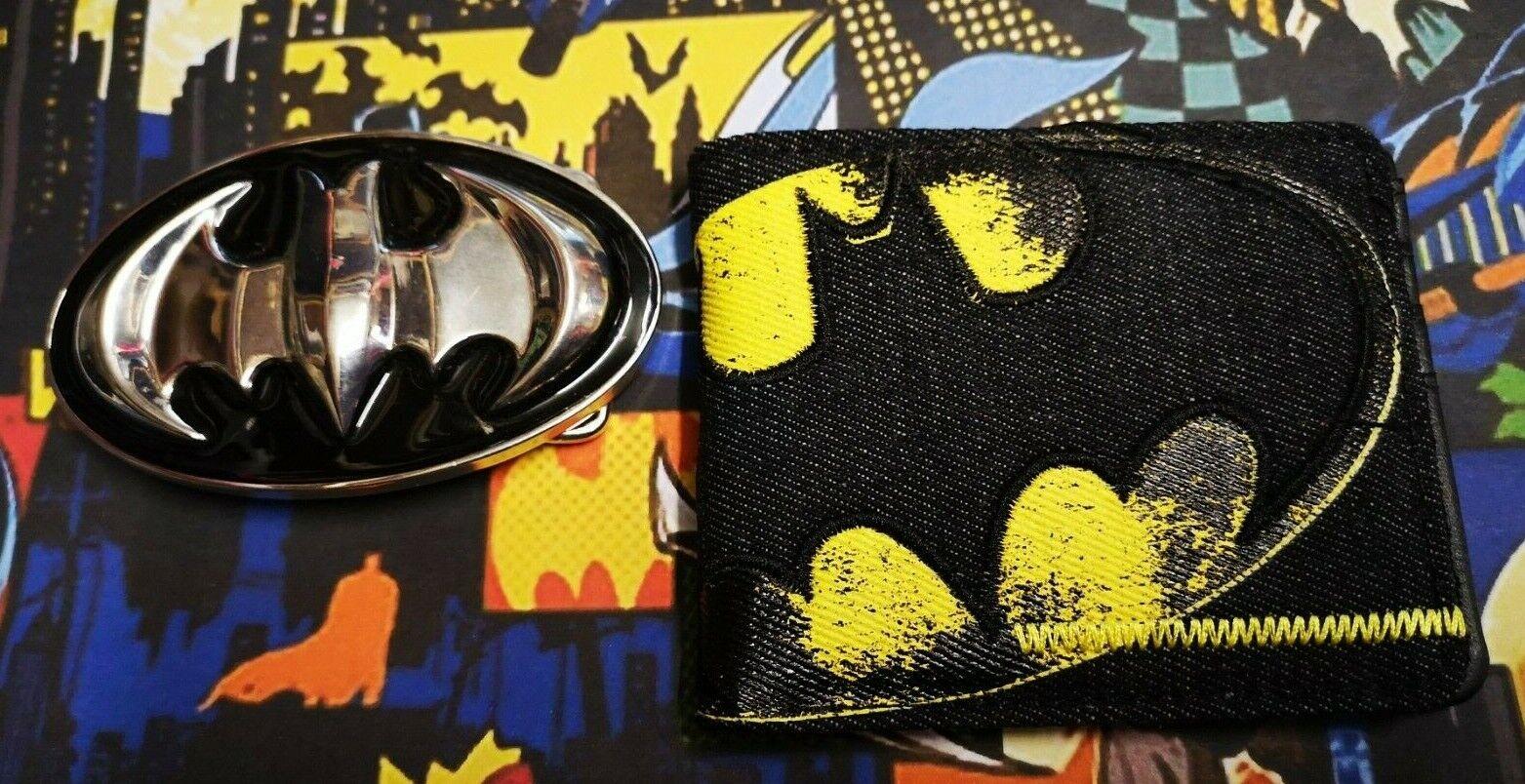 THE Batman belt buckle & batman super hero Wallet Comic book heroes BLACK