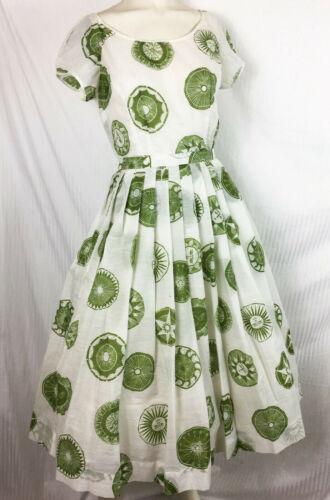 Vintage 50s 60s 3 Pc Top Circle Skirt Sun Medallio
