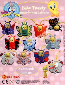 Baby Looney Tunes Baby Tweety Butterfly Wear GASHAPON 10 PEZZI COOL THING' - Italia - Baby Looney Tunes Baby Tweety Butterfly Wear GASHAPON 10 PEZZI COOL THING' - Italia