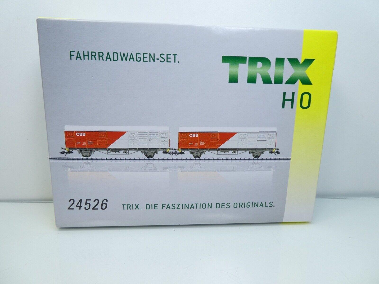 Trix 24526  H0  ÖBB  AC  FahrradwagenSet 2tlg.  TOP in OVP   4172