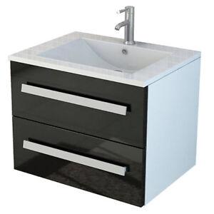 Salle de bain ensemble ArosaII noir Soft Close plan vasque salle de ...