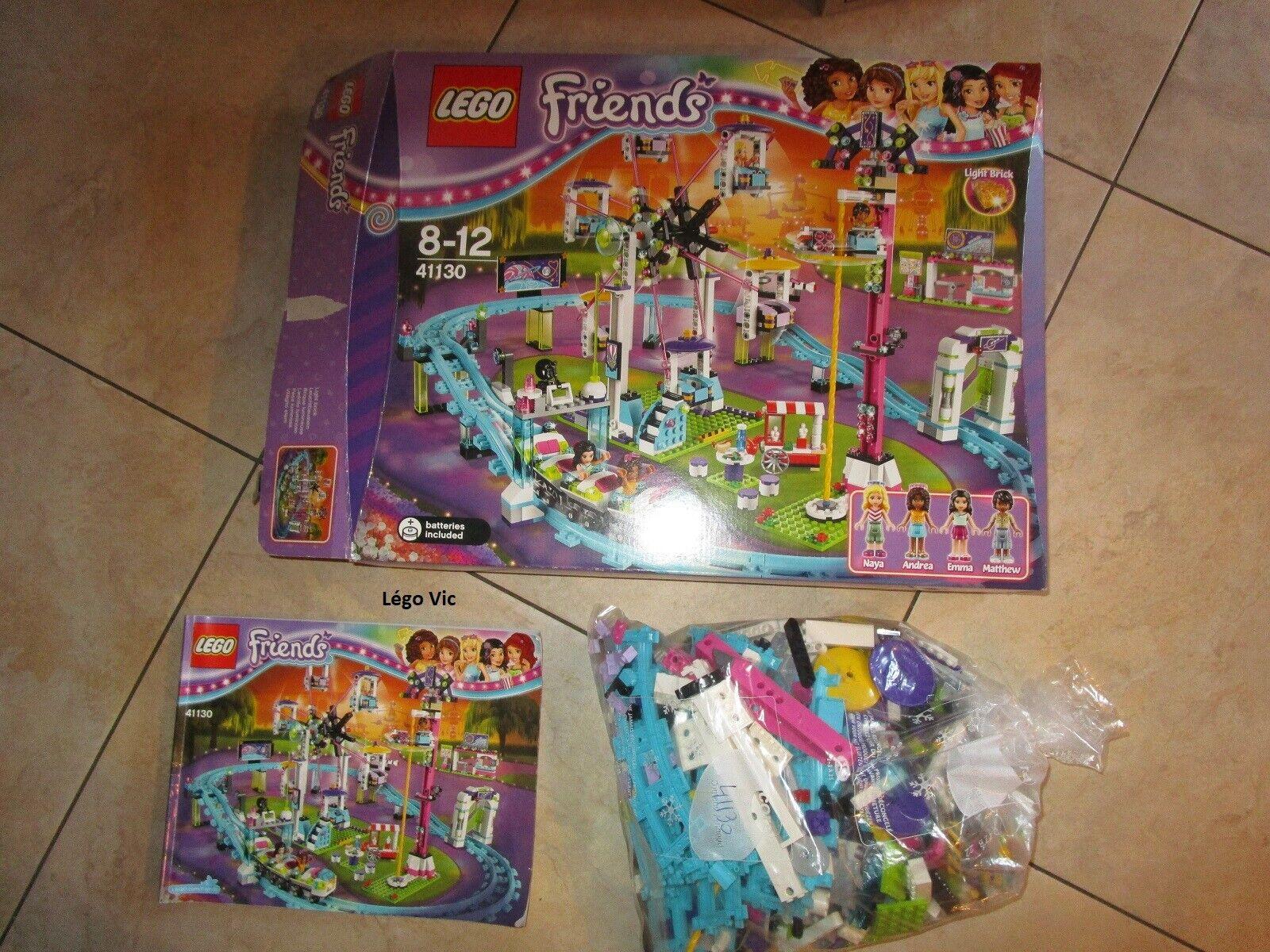 Lego 41130 Friends Amusement Park Roller Coaster Notice Boite Box CNB09