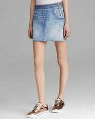 Marc Jacobs Blue Jahoo Denim A-line Skirt size 6 new with tags