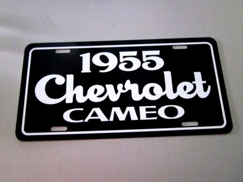1955 Chevrolet CAMEO pickup truck license plate tag 55 Chevy 3100 Pick Up