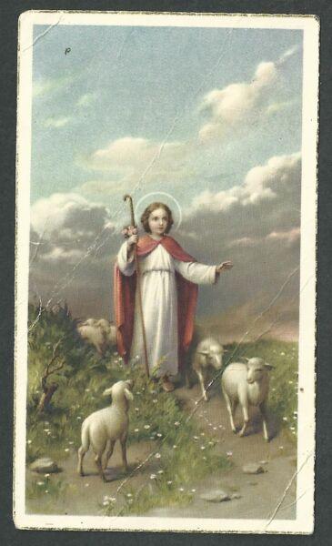 úLtima ColeccióN De Estampa Antigua Del Buen Pastor Andachtsbild Santino Holy Card Santini Suavizar La CirculacióN Y Detener Los Dolores