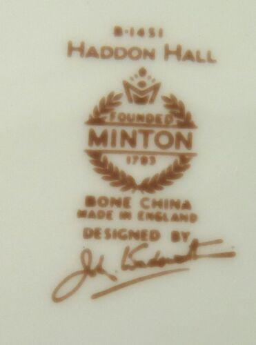 HADDON HALL B1451 SALAD PLATE BY MINTON CHINA