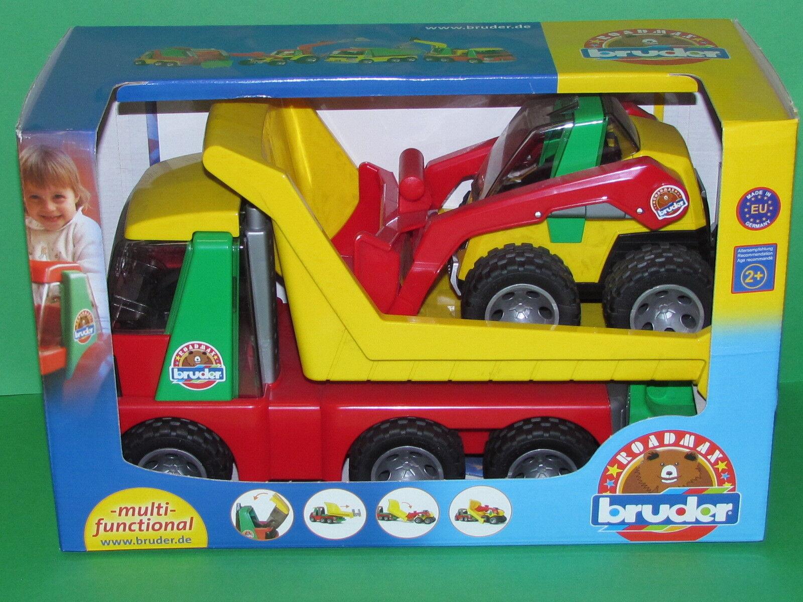 Bruder 20070 20070 20070 Roadmax Transporter mit Kompaktlader Blitzversand per DHL-Paket 5bfde7