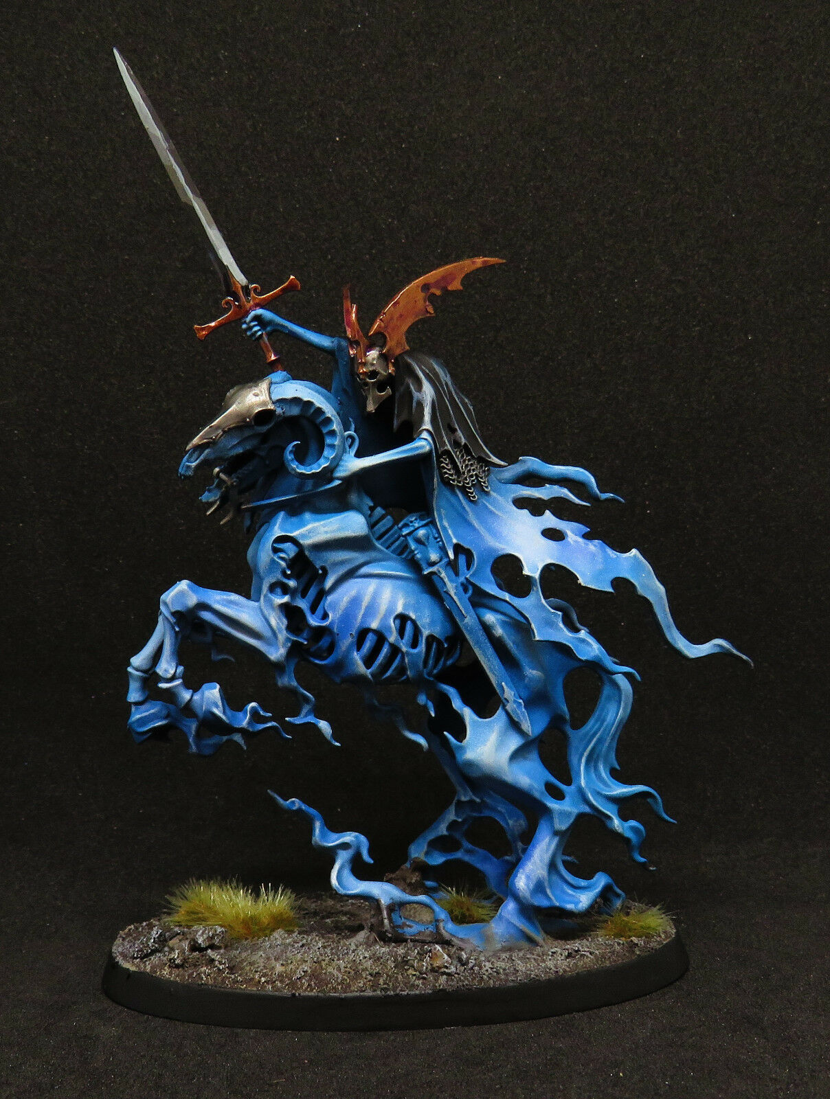 Warhammer Age of Sigmar Pro Painted Nighthaunt Knight of Shrouds on Ethereal Ste