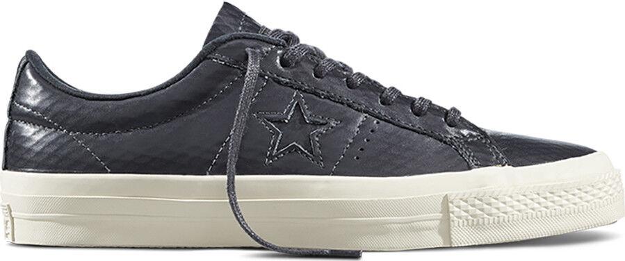 Converse Cons One Star Negro casi Negro Cuero Tenis 153705c
