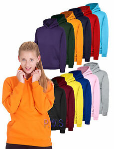 Uneek CHILDRENS CLASSIC FULL ZIP HOODED SWEATSHIRT Kids Plain Casual Pullover