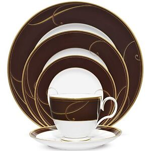Noritake Golden Wave Chocolate 40Pc China Set, Service for 8 ...