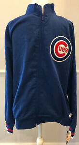 NWT-Chicago-Cubs-MLB-Full-Zip-Waffle-Knit-Jacket-Size-M-FREE-SHIPPING