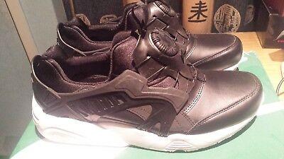 Puma Trinomic Disc Blaze Leather Black White Shoes Sneakers UK 8 US 9 361979 01   eBay
