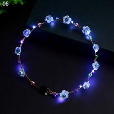LED Flower Light Up Tiara Wreath Garland Homeleo 6-Pack Light Up Flower Crown