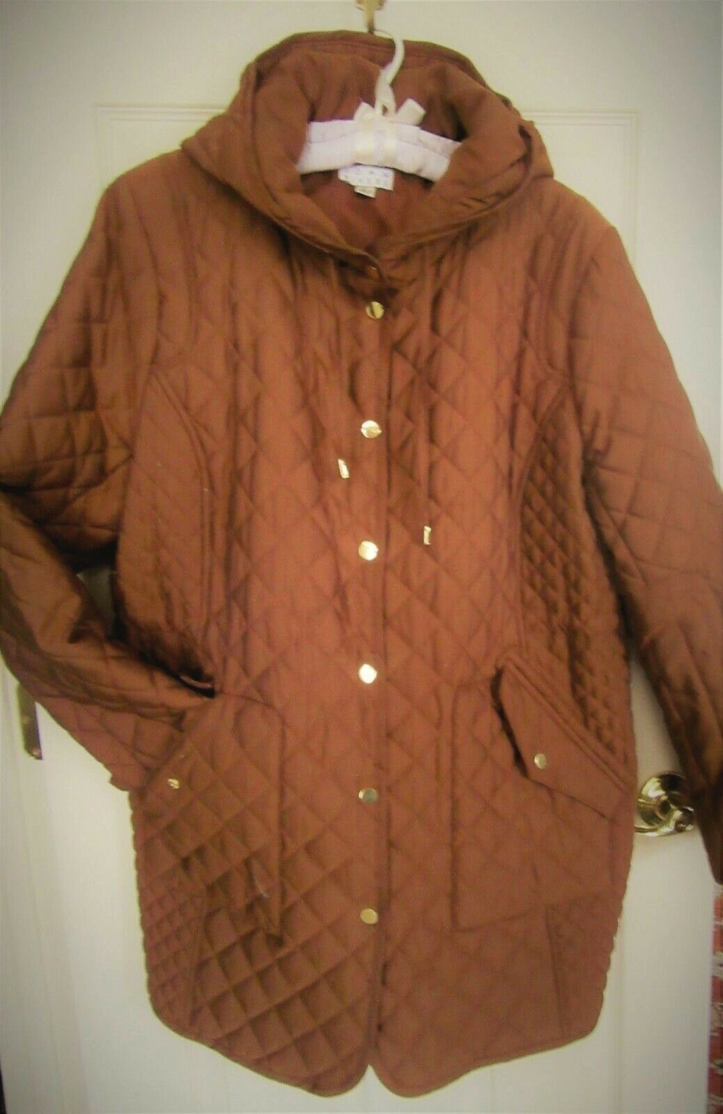 Joan Rivers Quilted Coat with Hood