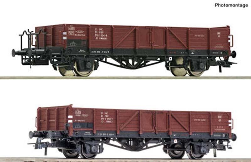Roco PKP El Open Wagon Set (2) IV HO Gauge RC76281