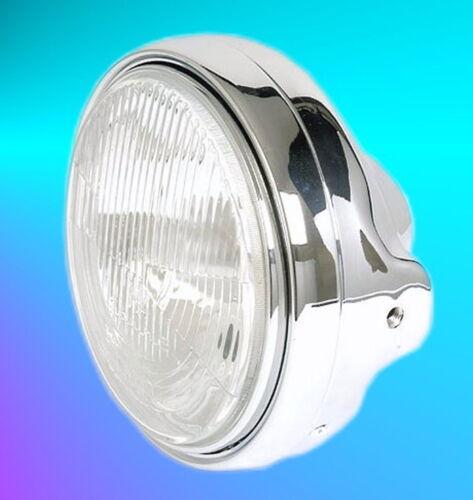 Principaux Phares Phares Lampe 7 In Chrome Chromé TÜV E-Testé NEUF