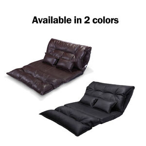 Outstanding Details About Lounge Sofa Bed Floor Lazy Man Couch With 2 Pillows Adjustable Folding Chaise Creativecarmelina Interior Chair Design Creativecarmelinacom