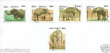 ELEPHANTS ANIMALS FLORA FAUNA SET OF 5 STAMPS FINE QUALITY # 14