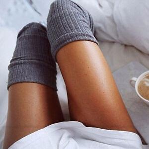 Women's Hosiery & Socks New Women's Cotton Socks Thigh High Striped Over the Knee Slim Leg Stockings Women's Clothing