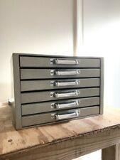 Metal Letterpresstype Cabinet 6 Drawer