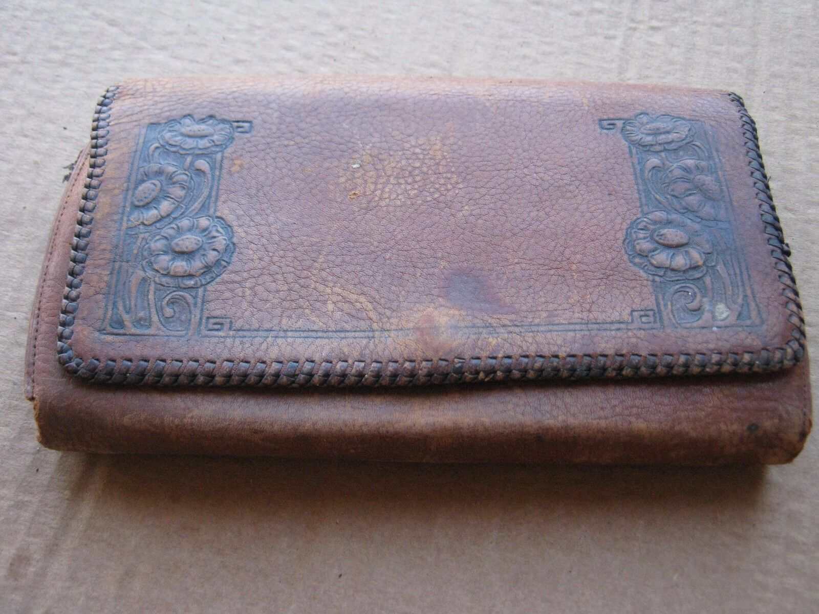 Vintage Leather Fly Wallet Fishing Nautical Decor