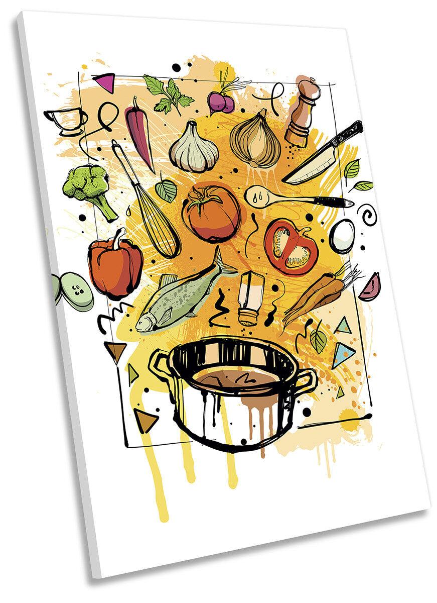 Kitchen Food Ingridents CANVAS WALL ARTWORK Portrait Print Print Print Art d48587
