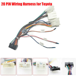 1x 20 PIN GPS Multimedia Player Wiring Harness Connector Plug & Play for  Toyota | eBayeBay