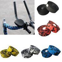 200cm 2x Cycling Road Bike Handlebar Tape Bicycle Bar Grip Wrap Ribbon Bar Plugs