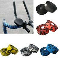 Cycling Road Bike Handlebar Tape Bicycle Bar Grip Wrap Ribbon Bar Plugs 200x3cm