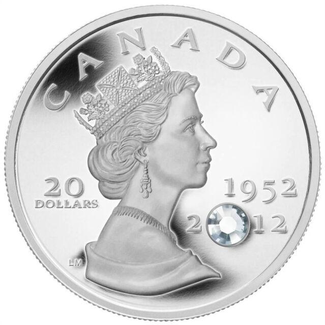 Queen's Diamond Jubilee - 2012 Canada $20 Fine Silver Coin