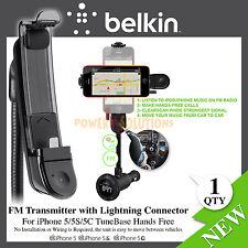 Belkin TuneBase Vivavoce Trasmettitore FM connettore Lightning per iPhone 5 5s se