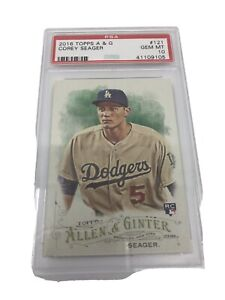 2016 TOPPS ALLEN & GINTER #121 COREY SEAGER RC DODGERS PSA 10 Rookie Card