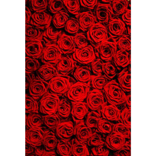 5x7FT Red Rose Photography Studio Cloth Props Glitter Photo Background Backdrop