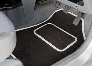 SUZUKI SWIFT Car Floor Mats Black /& White Trim