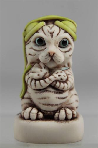 Harmony Kingdom UK /'Major Tom/' Solid Cat With GREEN Headphones  #CTJCA14V2 NIB!