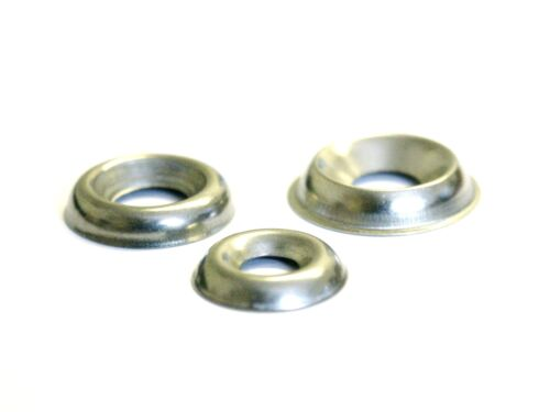 NO: 10 (4.8mm) Surface Screw Cup Finishing Washers Stainless A2 - 25 PACK