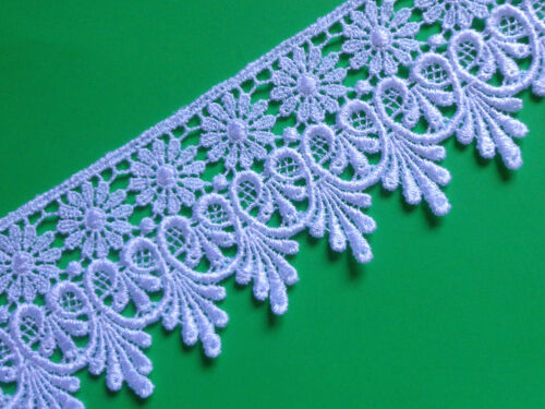 """selling by the yard Venise lace trim-white-2 3//4/"""" width"""