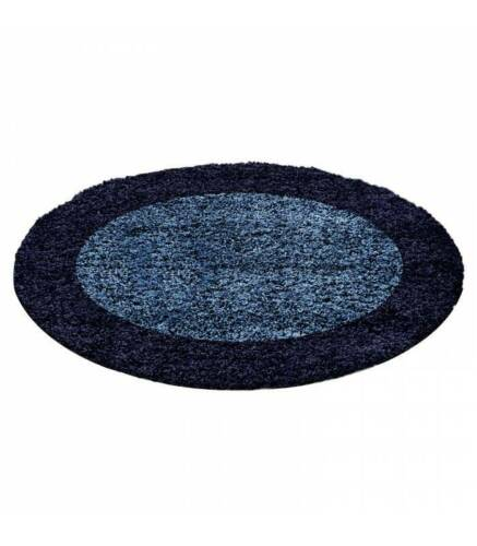 D/'un épais Langflor salon SHAGGY Tapis 2 en couleur florhöhe 3 cm Navy Bleu