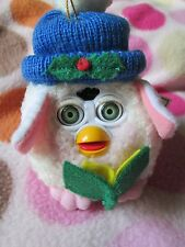FURBY plush CHRISTMAS ornament caroler white movable eyes 1999 toy furry tree