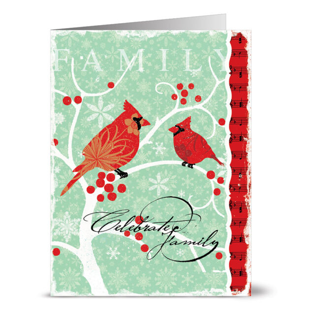 24 Holiday Note Cards Joy Red Envs