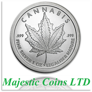2017-Silver-Shield-Canada-Mock-Cannabis-1-oz-999-Silver-Round