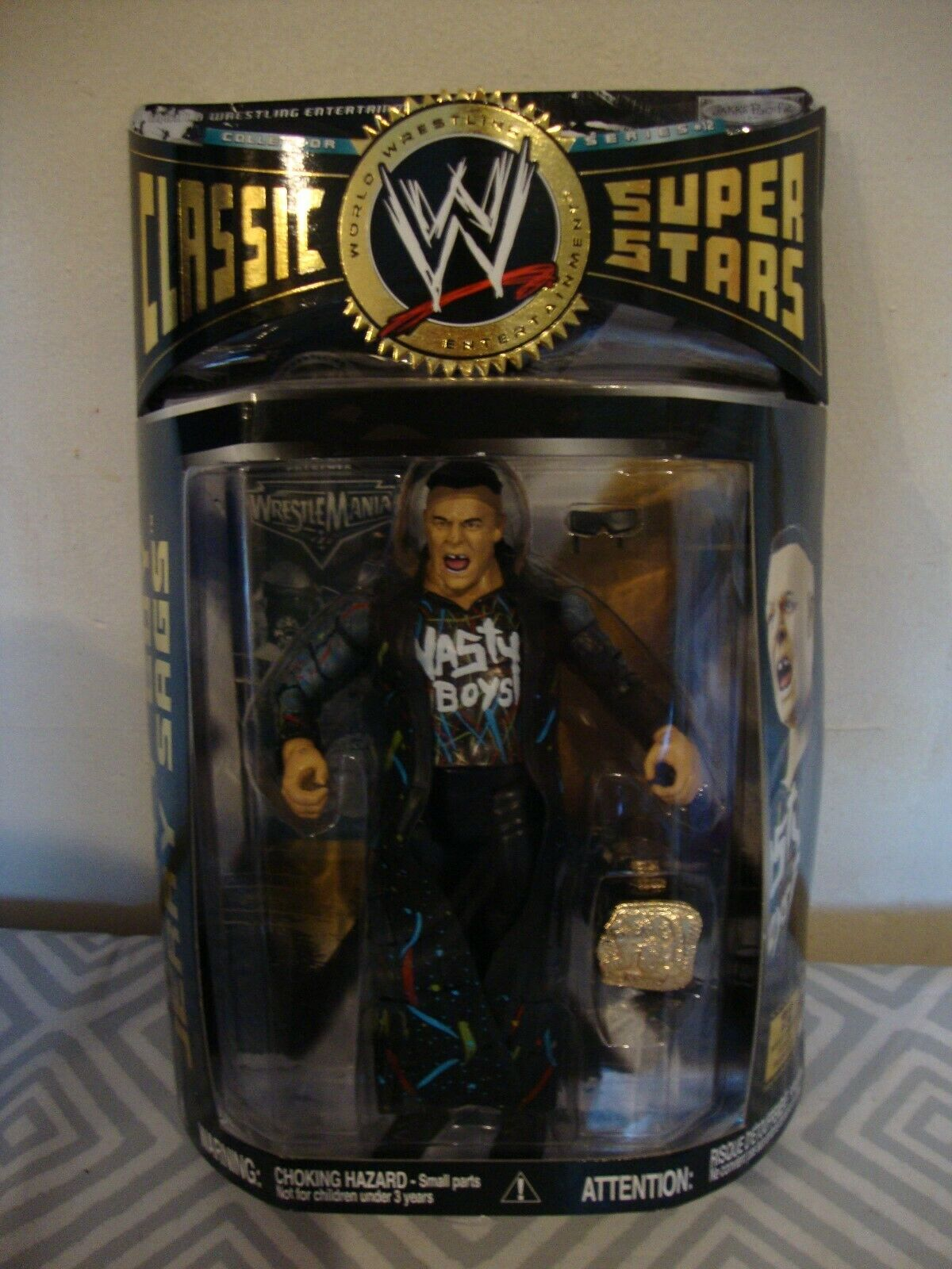 WWE Wrestling Nasty Boy Jerry Sags Jakks Superstars action figure.