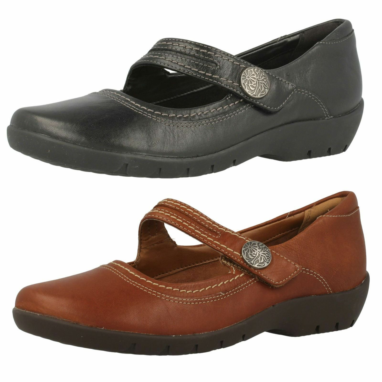 Ladie Clarks ordell Becca in Pelle Casual Mary Jane Stile   D RACCORDO